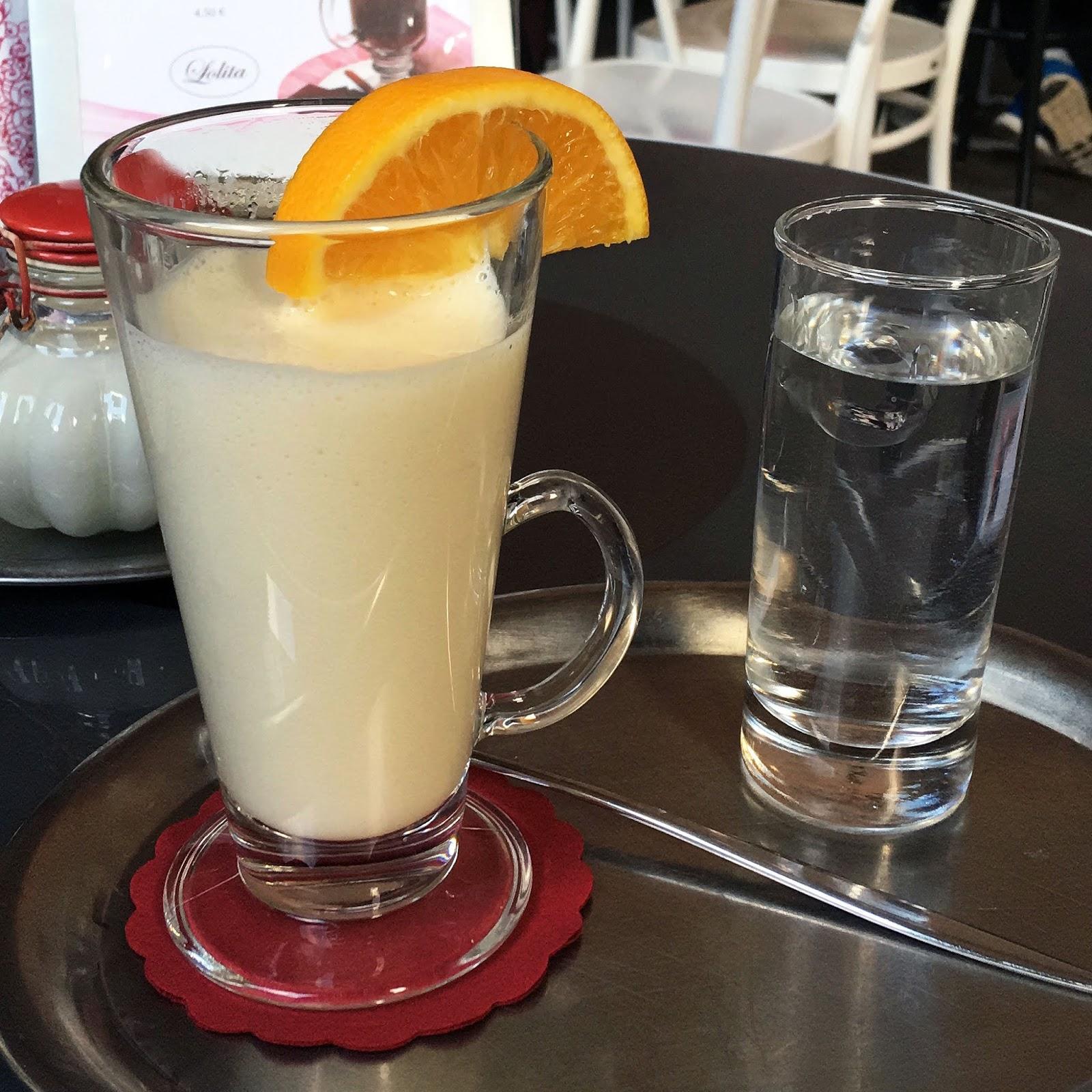 White Hot Chocolate at Lolita tearoom in Ljubljana, Slovenia