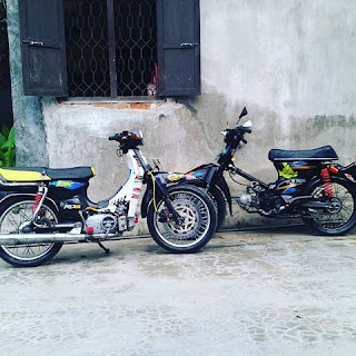 Modifikasi Suzuki RC 100 Bravo