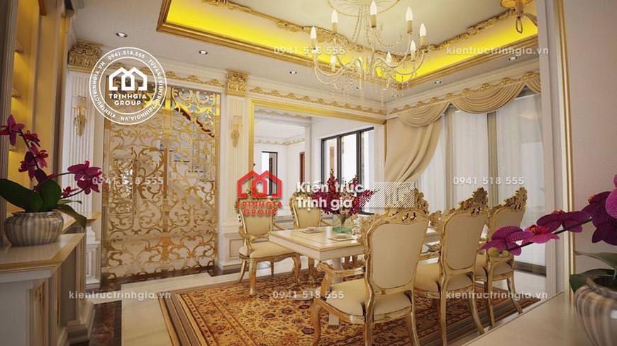 Thiết kế nội thất lâu đài kiến trúc Pháp cổ điển ở Hải Dương - Mã số NT4022 - Ảnh 3