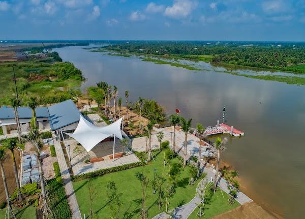 ảnh thực tế độ hoàn thiện của dự án waterpoint Nam Long nằm tại bến lức
