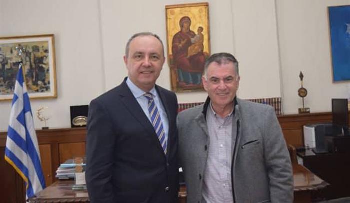 Συνάντηση Δημάρχου Σιθωνίας  με τον Υφυπουργό Εσωτερικών  Θεόδωρο Καράογλου