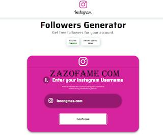 Cara Dapatkan Followers Instagram Via Zazofame.com