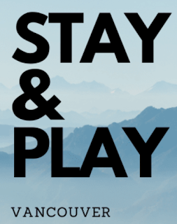 Stay & Play Vancouver Banner in light blue with black letteribf