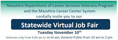 MassHire Statewide Virtual Job Fair - November 10