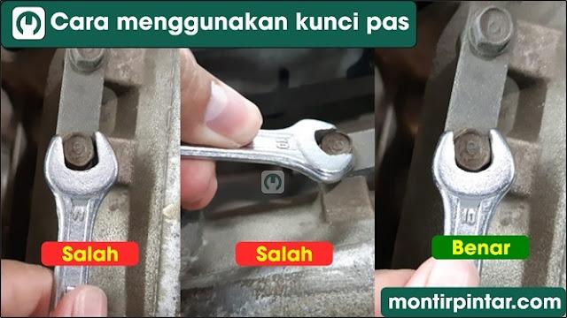 Cara menggunakan kunci pas