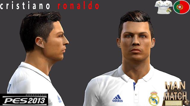 PES 2013 Cristiano Ronaldo face by matteo_99Facemaker
