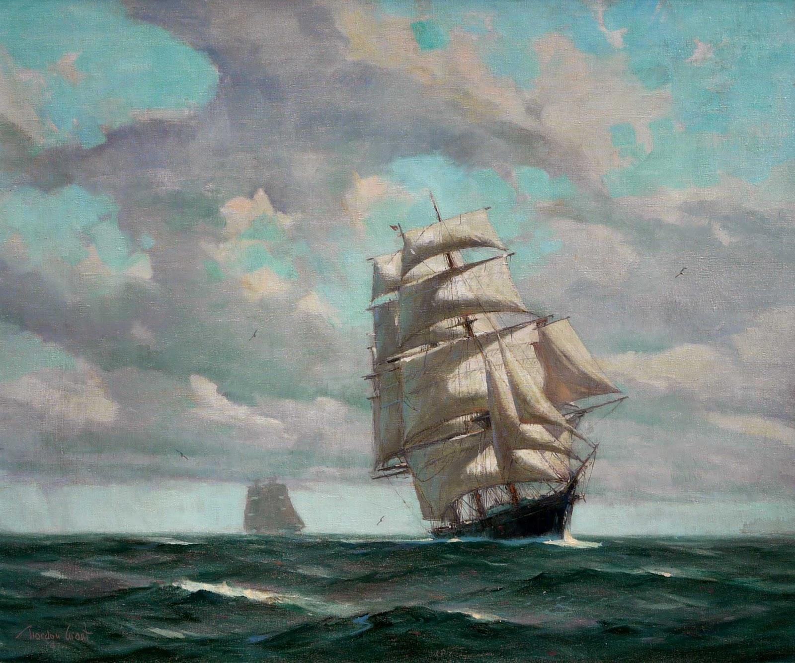 marine oil paintings: Pocock Fine Art Gallery