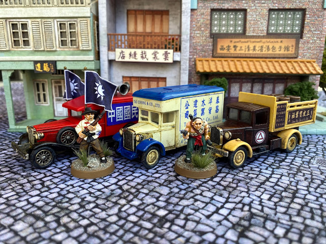 Lledo Diecast Vehicles for Wargaming 1920's,1930's and WW2  China in 28mm