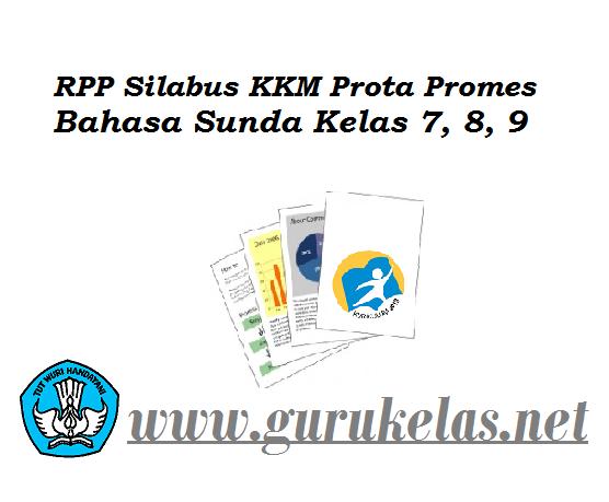 RPP Silabus KKM Prota Promes Kurikulum 2013 Bahasa Sunda Kelas 7, 8, 9