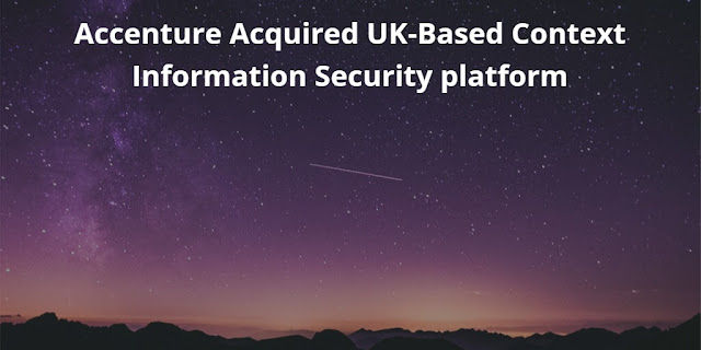 Accenture Acquired UK-Based Context Information Security platform