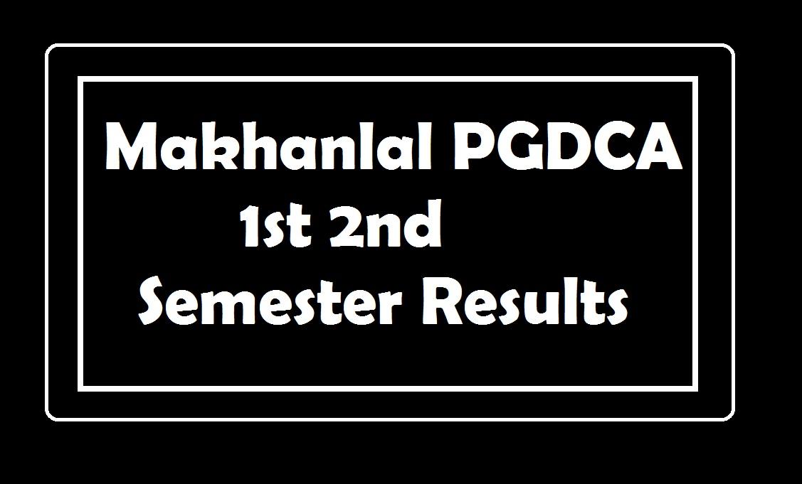 Makhanlal PGDCA 1st 2nd Semester Result 2019, MLCU Results