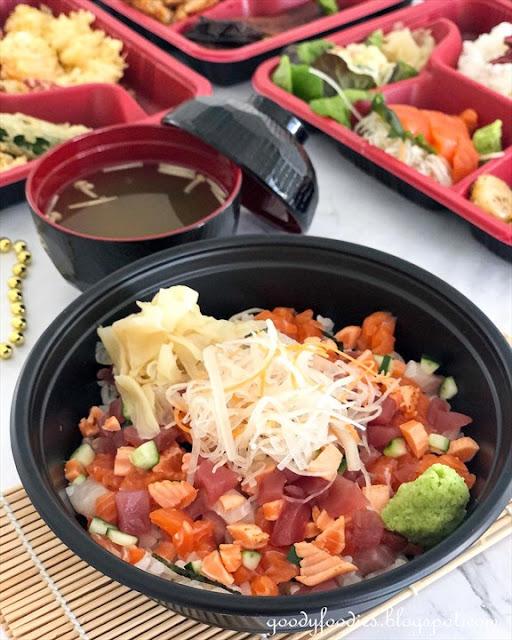 Hanare Japanese Restaurant KL bara chirashi don