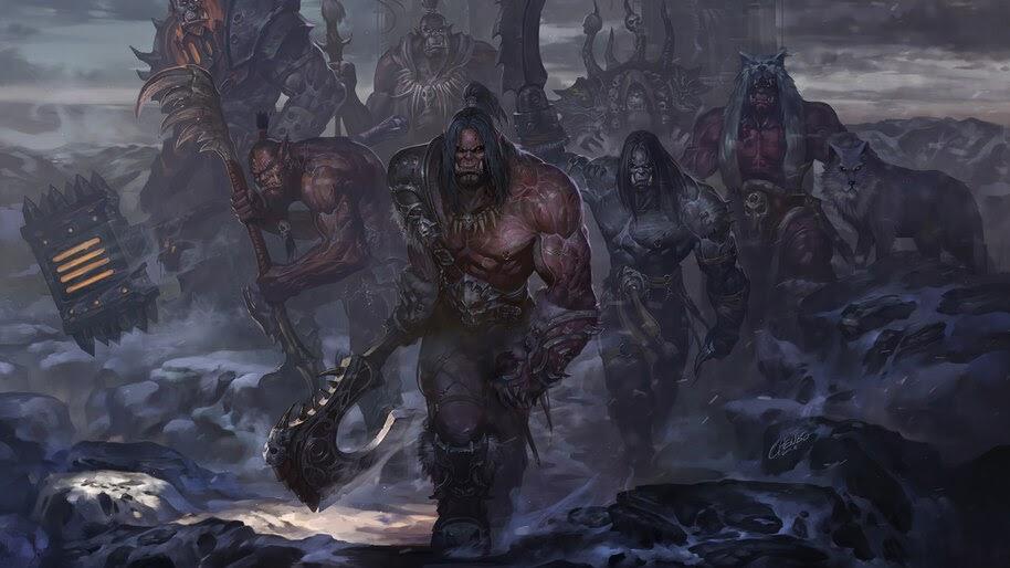 Grom Hellscream WoW The Horde Orcs Army 4K Wallpaper #3 964