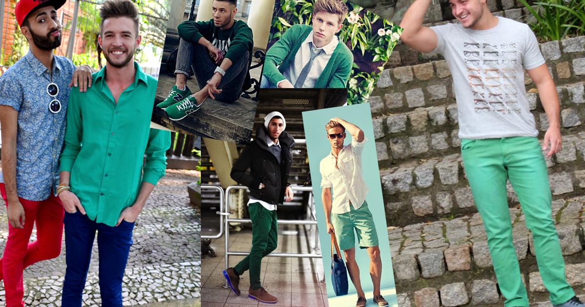 Looks Masculinos Verdes Greenery (1)