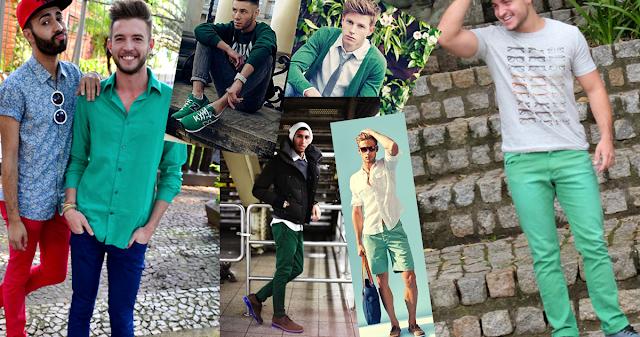 Resultado de imagem para look homem greenery pantone