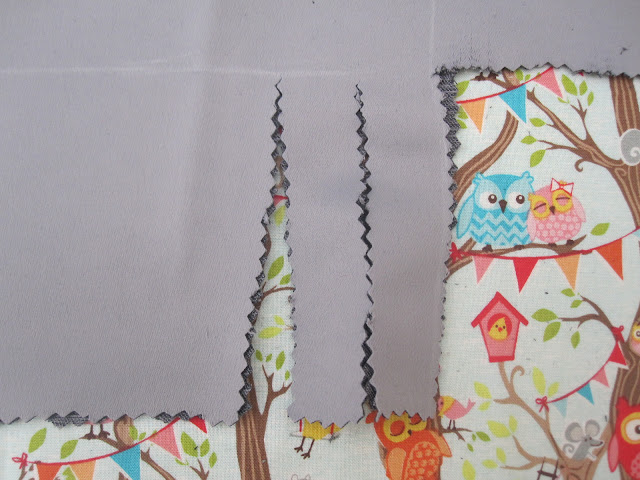 Fabric being cut with pinking shears