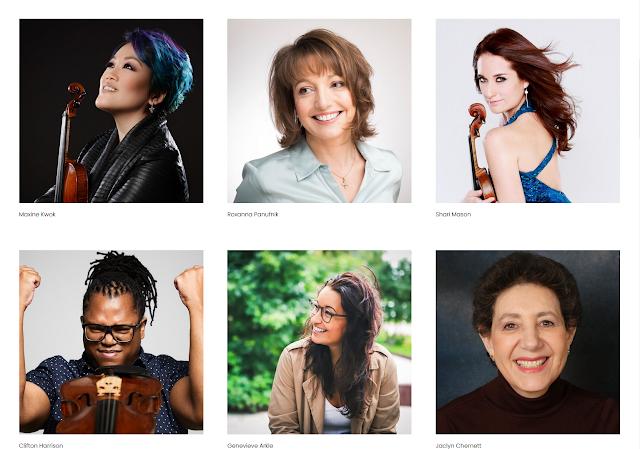 Maxine Kwok, Roxanna Panufnik, Shari Mason, Clifton Harrison, Genevieve Arkle, Jaclyn Chernett