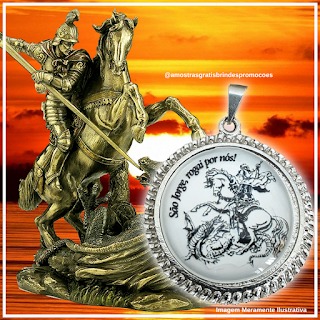 Brinde Grátis Medalha de São Jorge