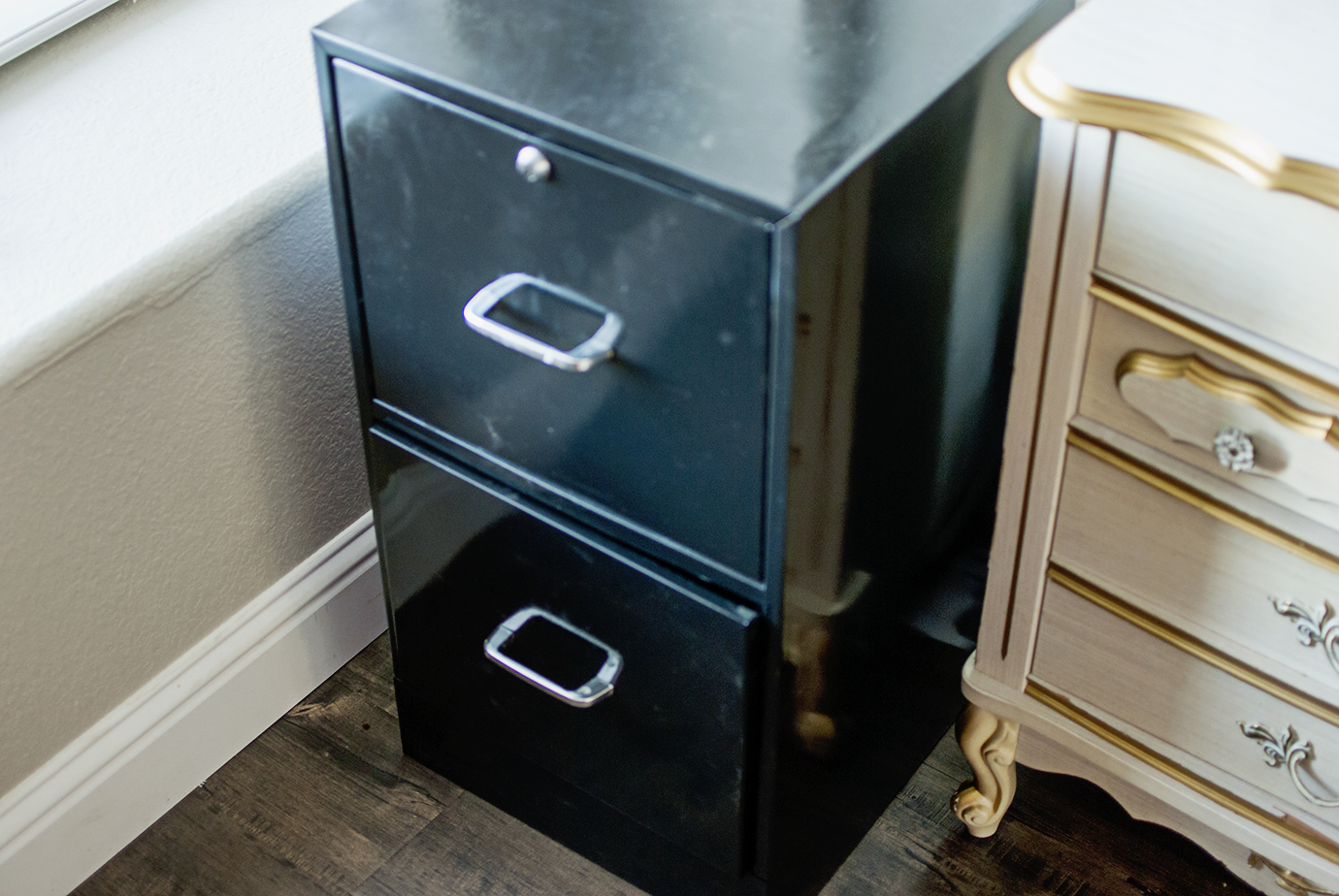 Curbside Junk Find Black Office Filing Cabinet For Closet Desk