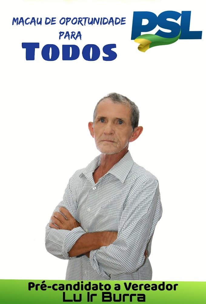POLÍTICA: José Cícero (Lu Ir Burra) disputará o pleito eleitoral como pré-candidato a vereador pelo PSL; confira um pouco de sua história