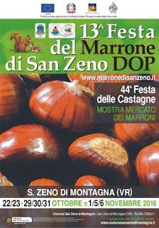 Festa della Castagna e del Marrone dal 22 ottobre al 6 novembre San Zeno di Montagna (VR)