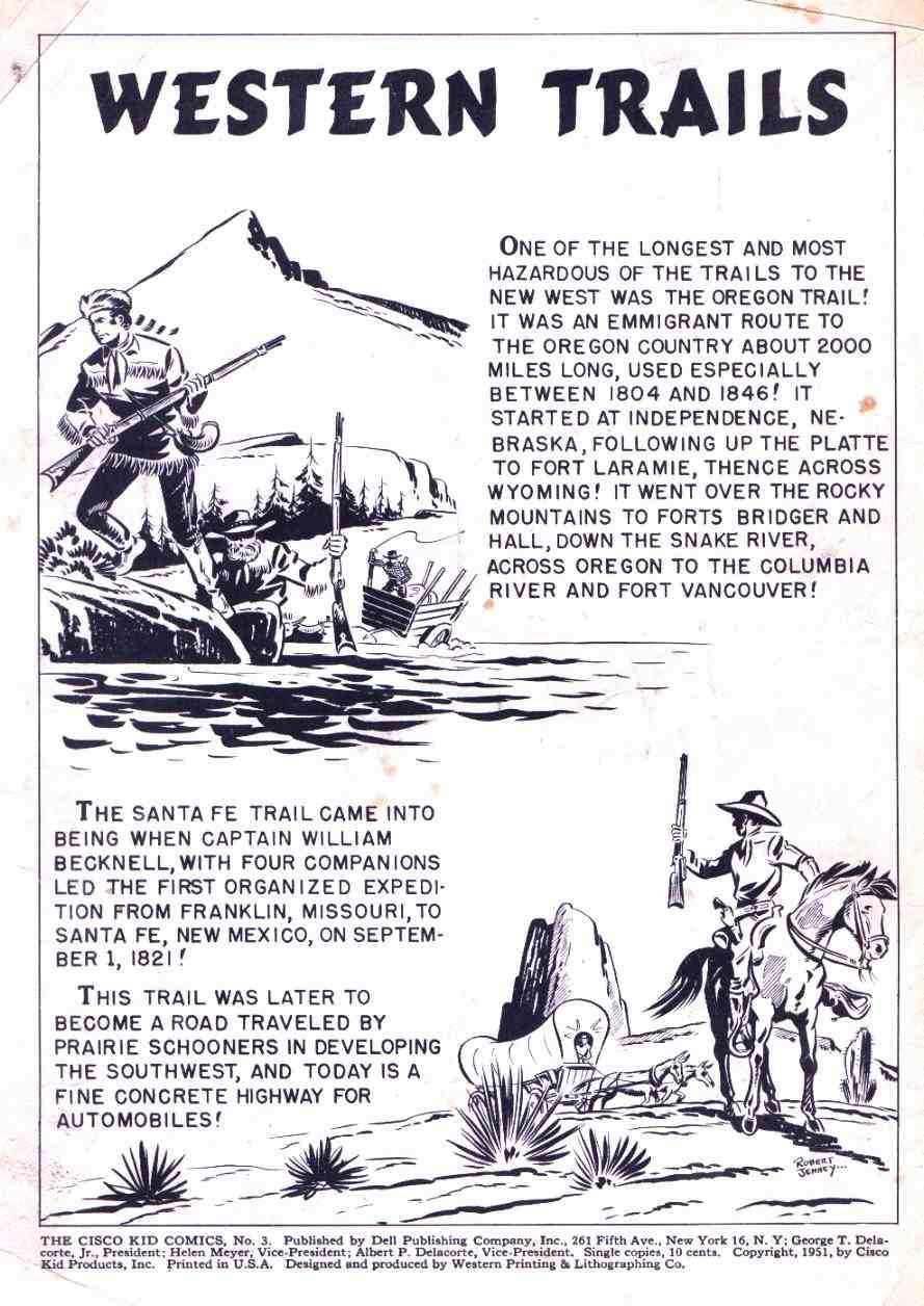 Comic Story Western Trails 1 Page