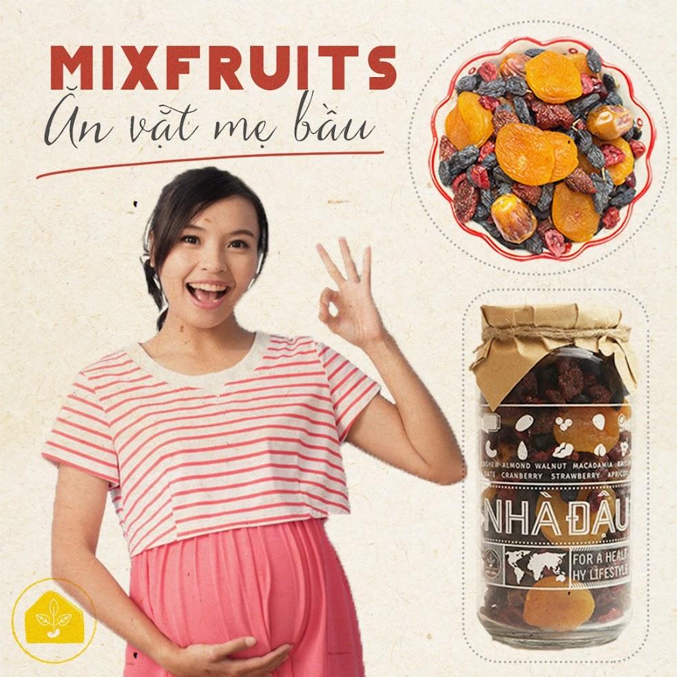 Quà tặng Bà Bầu Mixfruits trái cây sấy dẻo Nhà Đậu