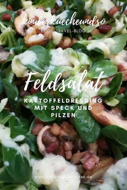 Kartoffeldressing mit Speck und Pilzen