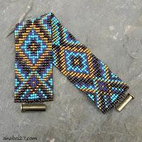 loom beaded bracelet cuff seed bead jewelry beadwoven bracelet