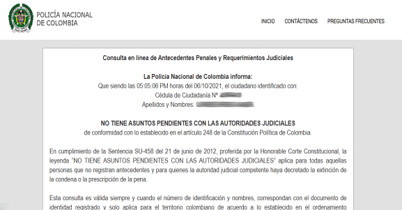 Descargar Certificado Judicial gratis por Internet