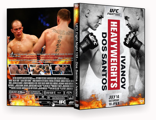 UFC Fight Night 133 Dos Santos x Ivanov 2018 – ISO – CAPA DVD