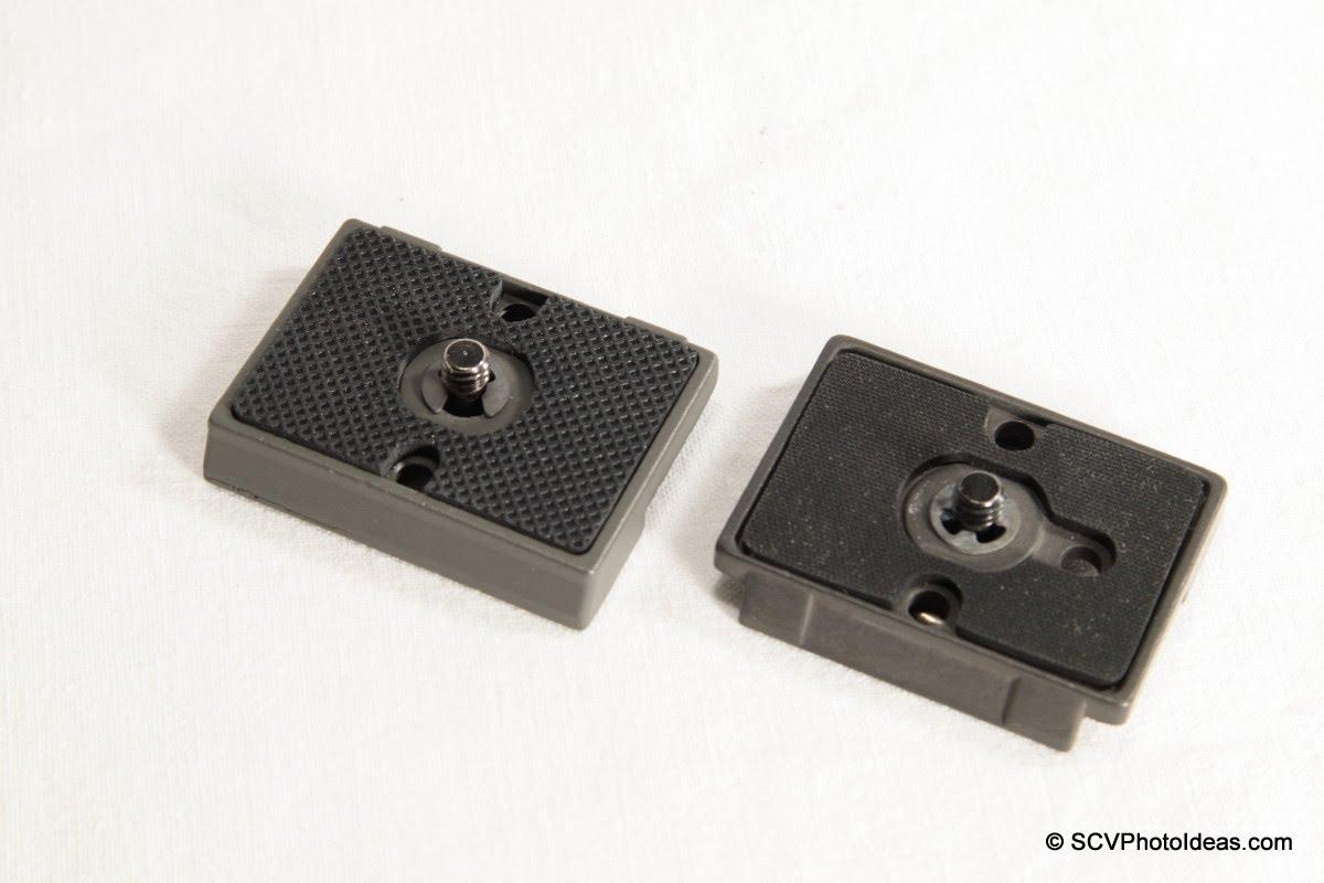 Manfrotto 200PL-14 + Desmond 200PL-14 comp plates top view