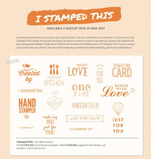 Stampin' Up! Susan Simpson Independent Stampin' Up! Demonstrator, Craftyduckydoodah!, August 2016 Update, Supplies available 24/7, I Stamped This,