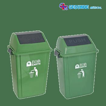 Tempat Sampah Plastik Dilengkapi Tutup   Push Dustbin