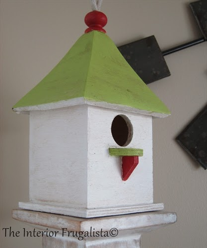 Bird House for our Spring Mantle under $10.00!