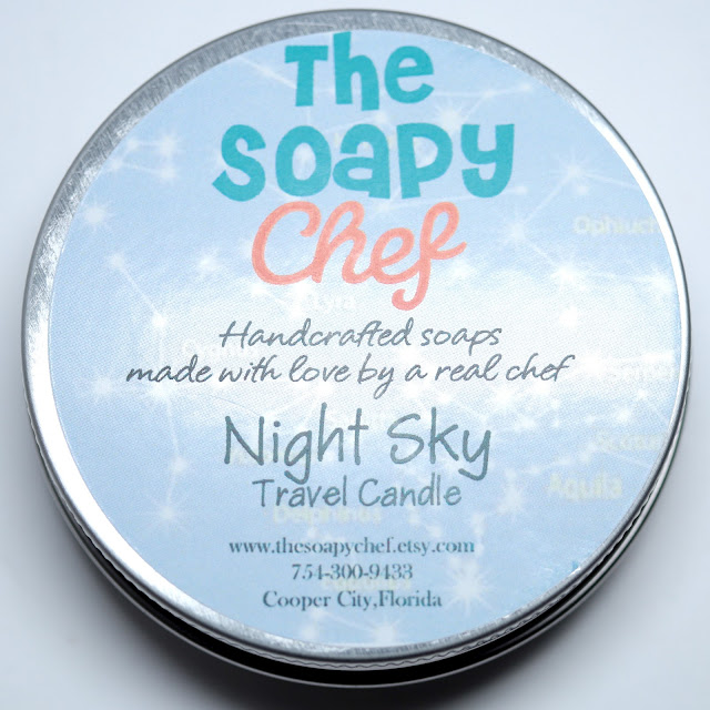 The Soapy Chef Night Sky Travel Candle