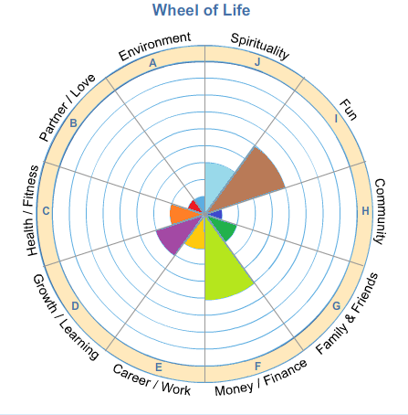 Wheel of life awaken for Blank wheel of life template