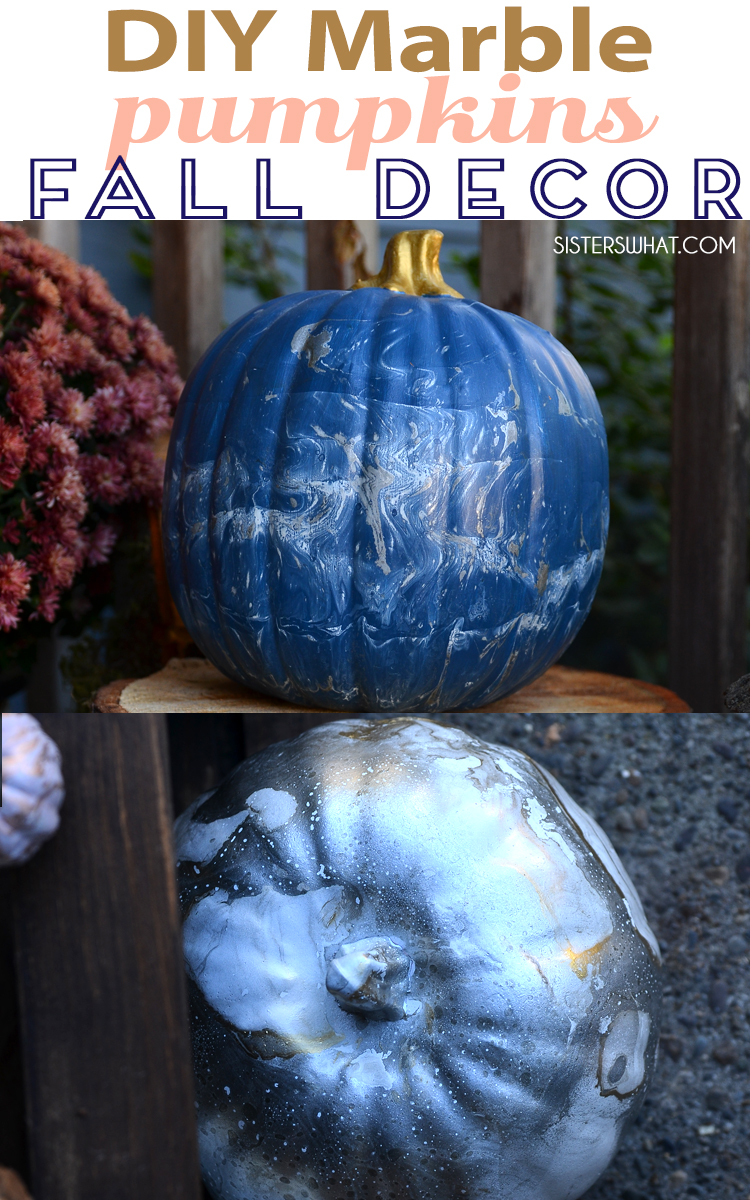 DIY marble pumpkins fall front porch decoration ideas