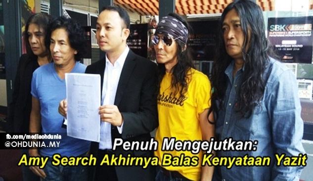 Amy Search Akhirnya Balas Kenyataan Yazit Search