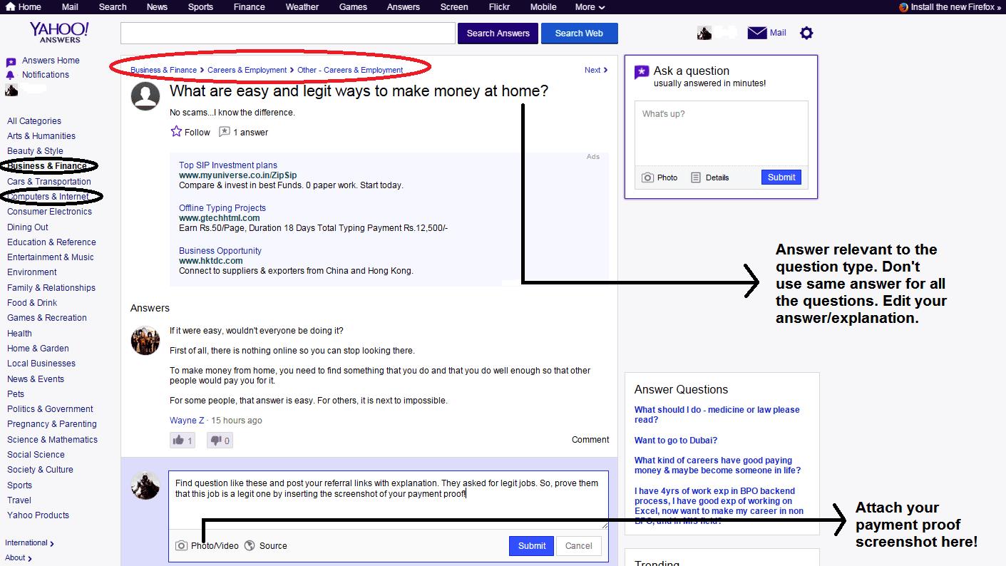 Online Money Making Websites Yahoo Answers Education Side Hustle