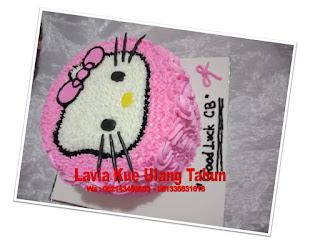 Kue Tart Ultah Hello Kitty