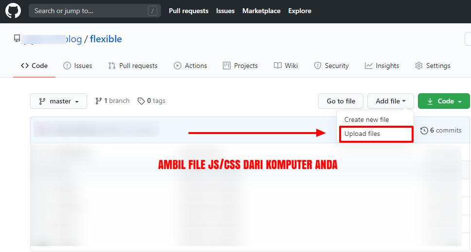 Cara Terbaru Hosting File JS, CSS Blog di Github
