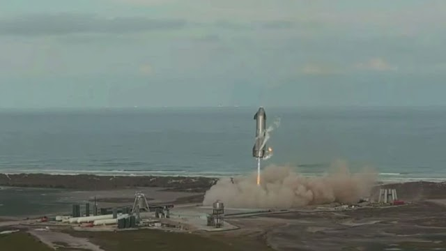 Roket SpaceX's Starship mendarat tapi kemudian meledak