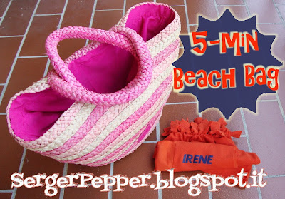 sergerpepper - 5min beach bag no-sew