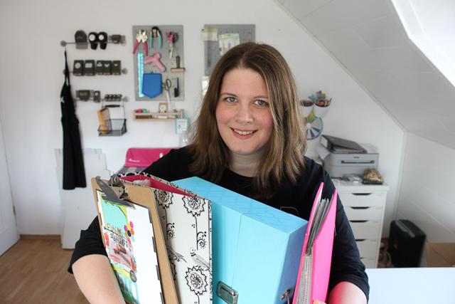Aufbewahrung von Scrapbooking Seiten - Janna Werner