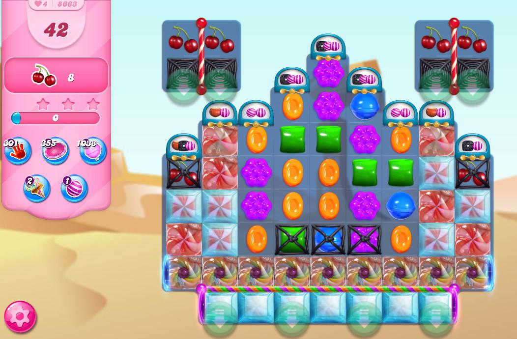Candy Crush Saga level 8663
