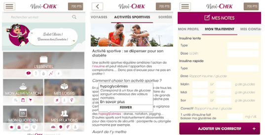 Application Mobile | Novi-Chek: Info diabète et conseils pour ton diabète de type 1