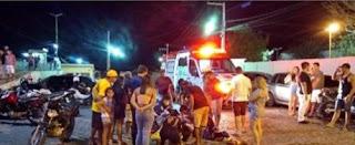 Após colisão entre duas motos, três pessoas ficam feridas, em Picuí