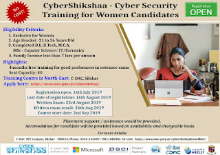 C-DAC Silchar Training Program Cyber Shikshaa for Women