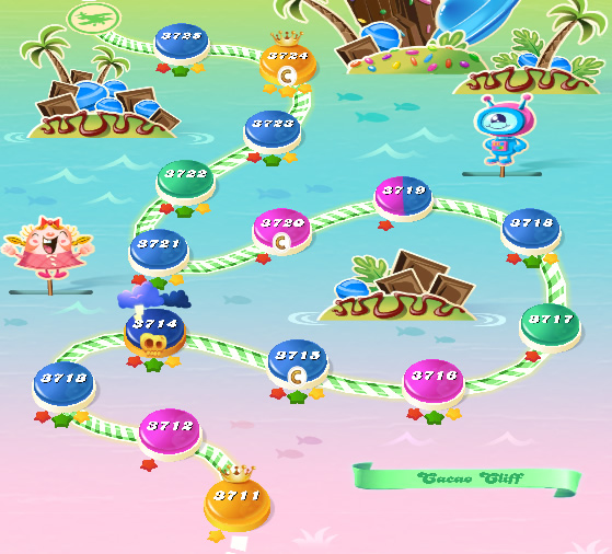 Candy Crush Saga level 3711-3725